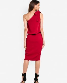 Bow Sleeve Midi Dress