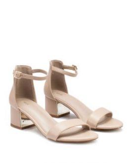 Chrome Heel Sandals