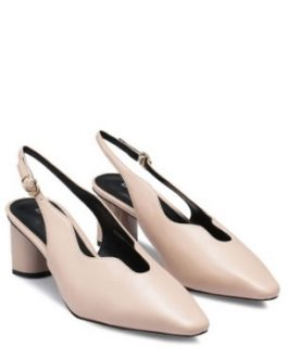 Toe Slingback Block Heels